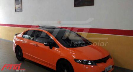 New Civic laranja com Teto Solar NSG Confort
