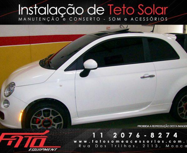 fato teto solar - Fiat 500 com Teto Solar Hollandia 300 deluxe