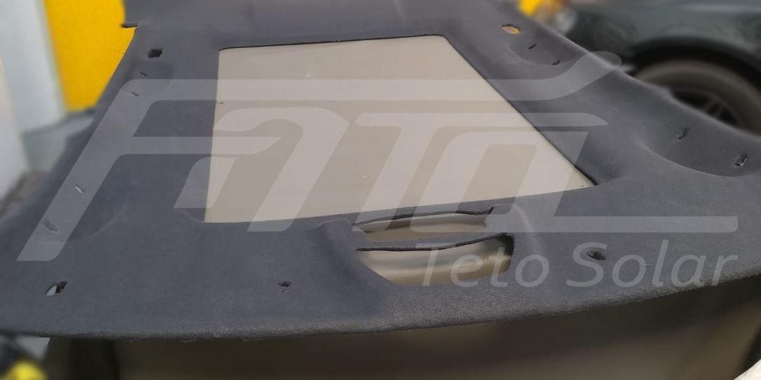 Fato Teto Solar - Troca de tecido no forro do Teto Solar Fiat Stilo